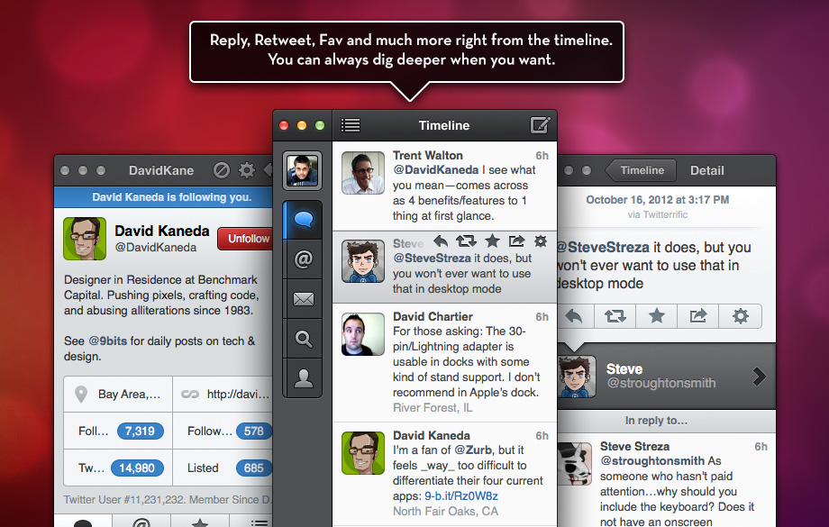Imagen promocional de Tweetbot para Mac