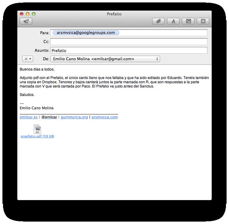 Mail y sólo Mail: OS X